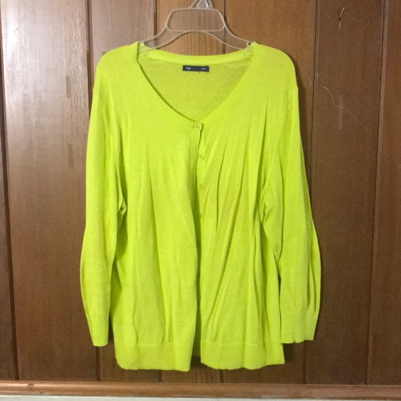 72% off GAP Sweaters - Lime Green Cardigan 3/4 Length Sleeve from ...
